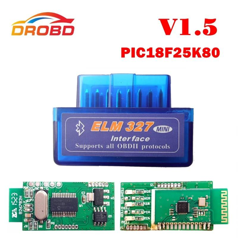 V1.5 Super MINI ELM327 Bluetooth DEL OLMO 327 Versión 1.5