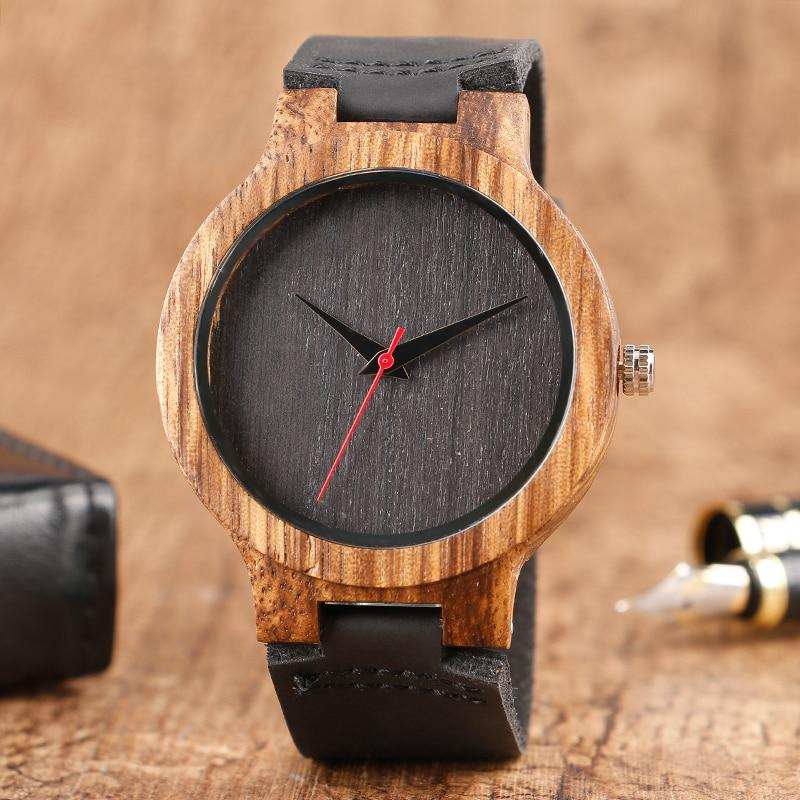 Fashion Top Gift Item Wood Watches Men's Analog Simple Bmaboo