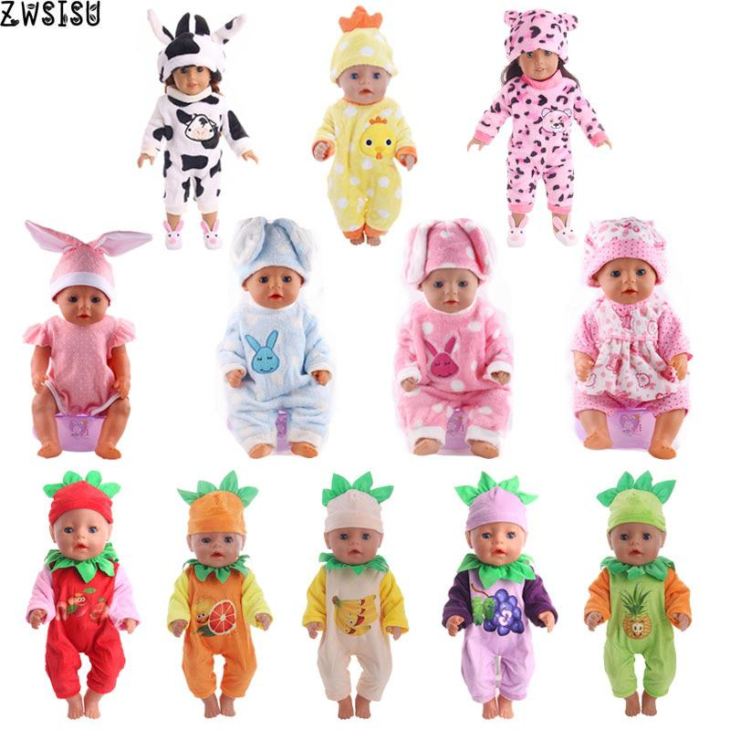 14Style Choose 1=Leisure Sports Doll Clothes Wear fit 43cm Baby