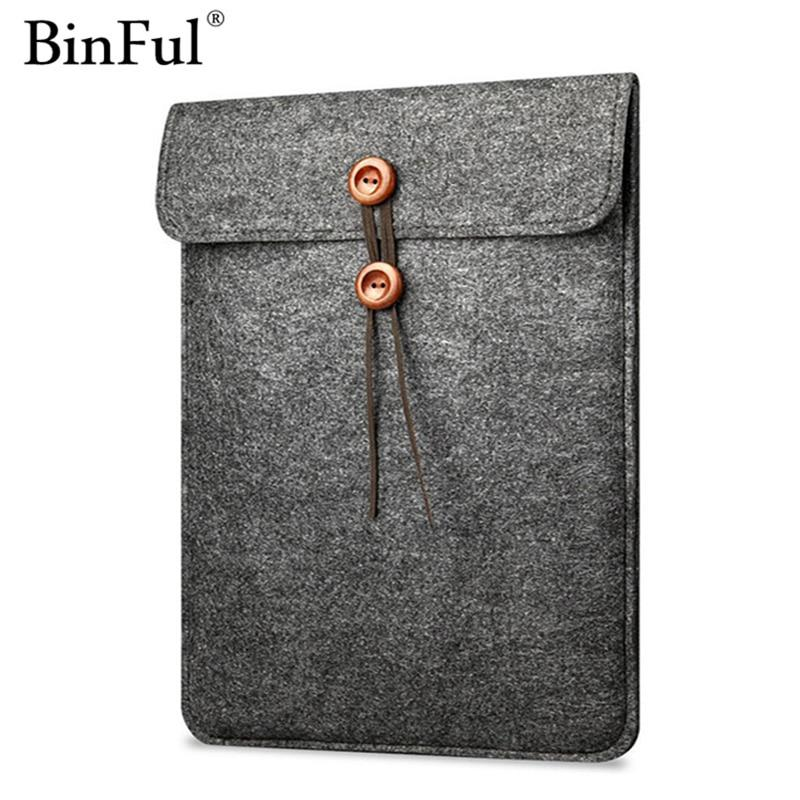 2017 New Felt Laptop Sleeve Bag Notebook Case Computer Smart