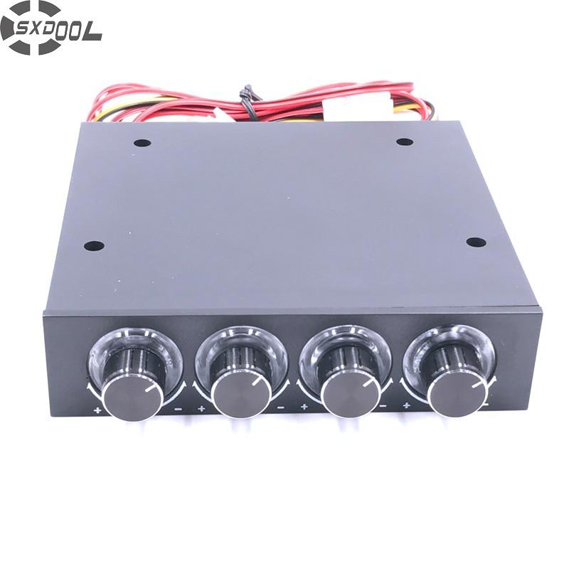 SXDOOL STW-6002 4 Channel Speed Fan Controller with Blue LED
