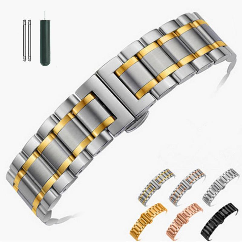 14mm 16mm 18mm 20mm 22mm 24mm Stainless Steel Watch band