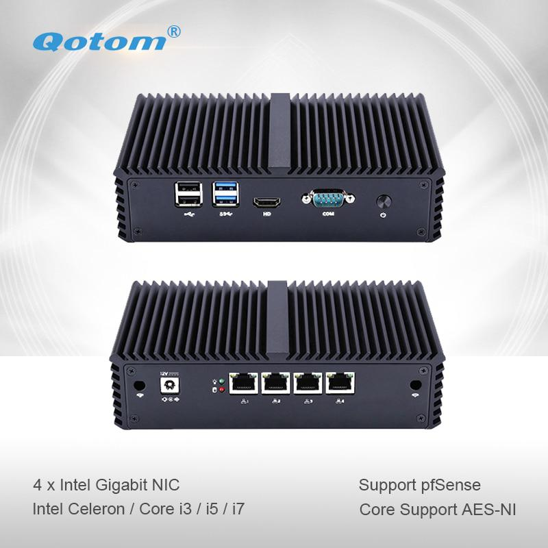 Qotom-Q330G4/4005U Q355G4 Mini PC Core i3/i5 5250U AES-NI Pfsense come