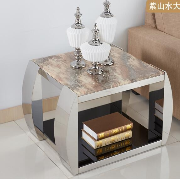 Marble mirror tea table glass coffee table for Glass tea table price