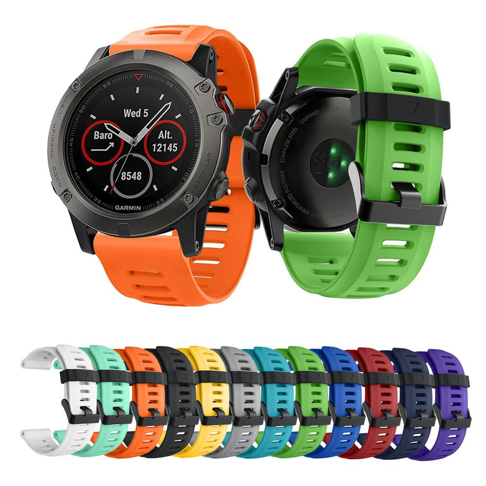 14colors Soft Silicone Replacement Watch Band for Garmin Fenix 3