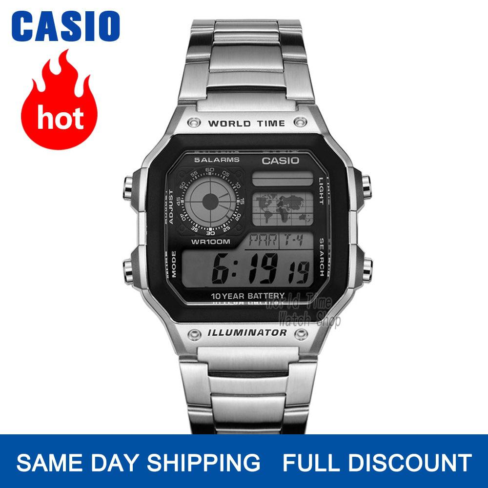 Casio Watch Waterproof Leisure Sports Men's Watch AE-1200WHD-1A AE-1200WHB-1B AE-1200WHB-3B