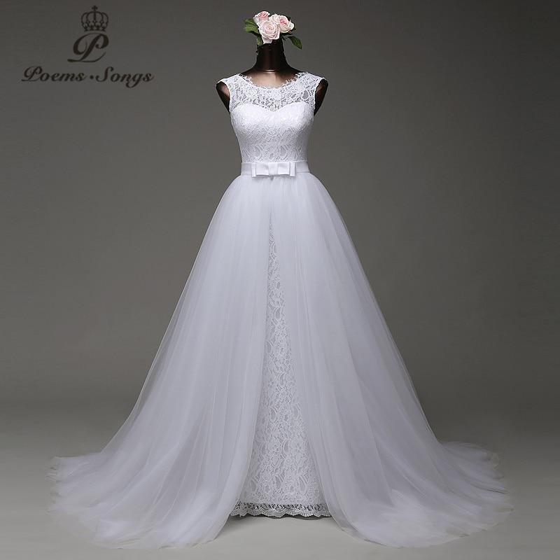 Poemssongs custom made high quality mermaid wedding dress with tulle