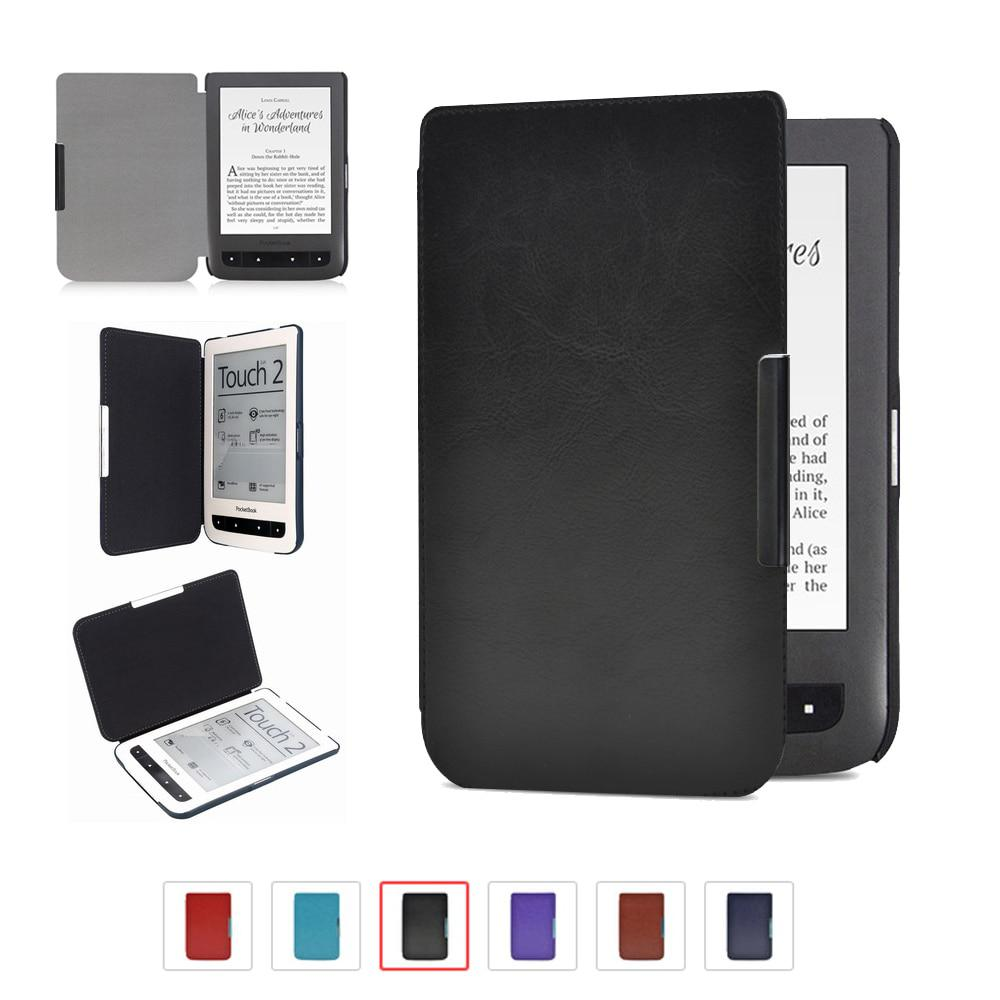 New arrival high quality leather cover case for Pocketbook basic