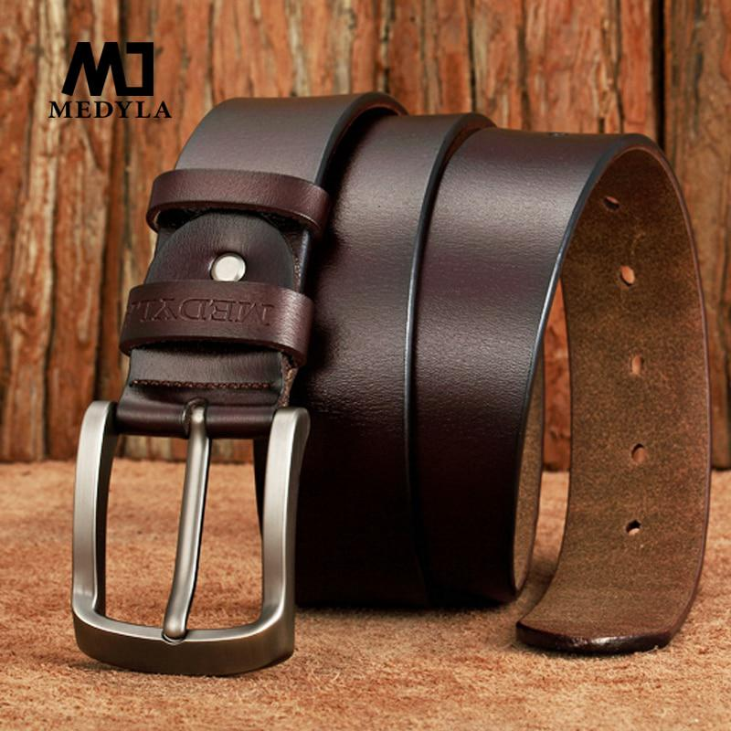 MEDYLA Dropship High Quality Genuine Leather Luxury Strap Male Belts
