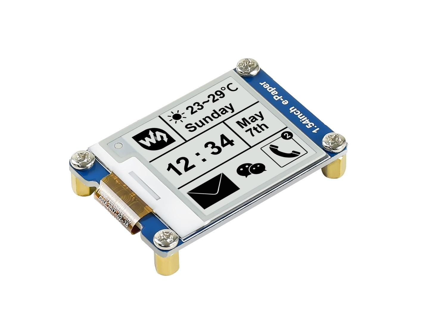 1.54inch e-Paper Module 200x200, E-Ink display ,SPI interface for Raspberry