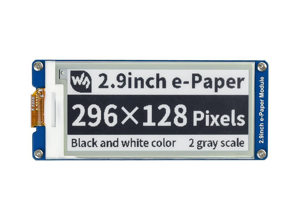 2.9inch E-Ink Display Screen 296x128 E-Paper Module SPI Support Partial