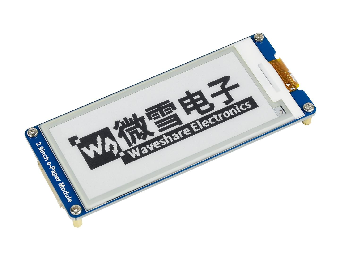 2.9inch e-Paper Module.296x128,2.9''E-Ink display,SPI interface,For Raspberry Pi etc,Display color: black,white,