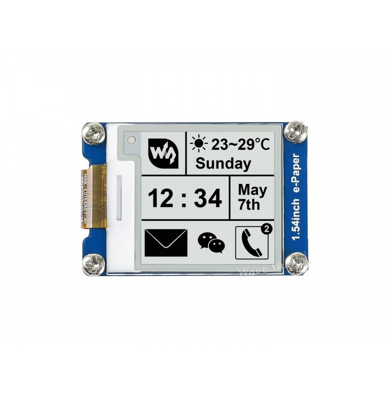 1.54inch e-Paper Module 200x200 E-Ink Display Screen With Embedded Controller