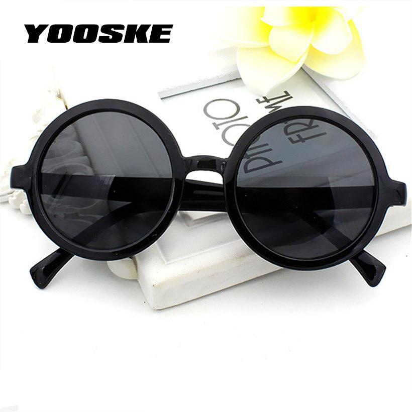 Yooske Vintage Round Sunglasses Women Classic Retro Coating Sun Glasses