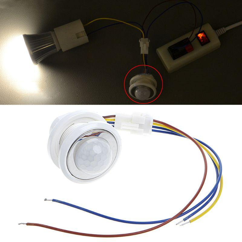 New 40mm LED PIR Detector Infrared Motion Sensor Switch with