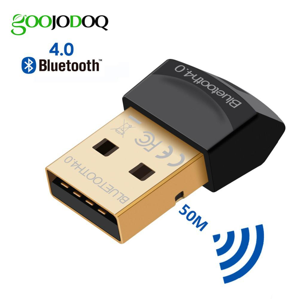 GOOJODOQ Adaptador Bluetooth CSR V4.0 Modo Dual Wireless Mini Bluetooth