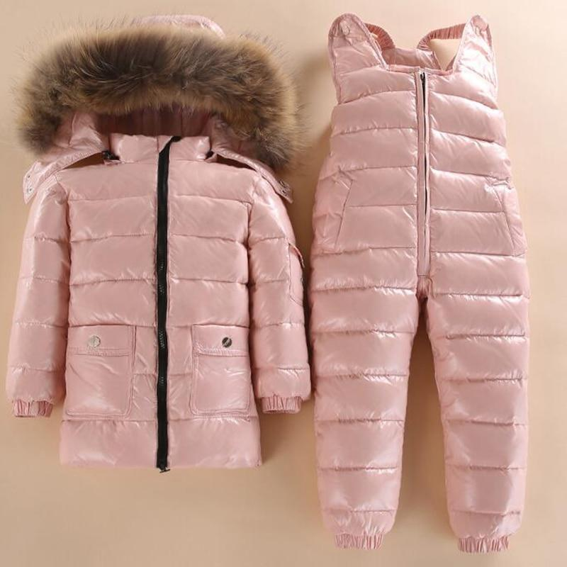 f2177a51219c New Style Children Down Jacket Baby Winter Ski Wear Boys And Girls ...