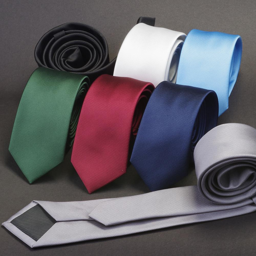 GUSLESON Men Solid Navy Blue Classic Ties for Bridegroom Green