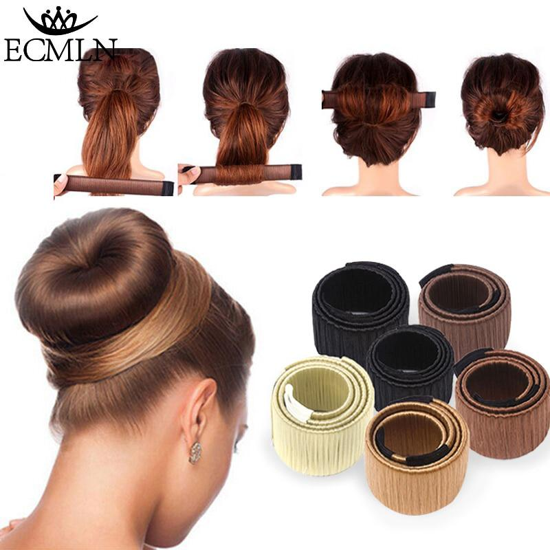 Hair Accessories Synthetic Wig Donuts Bud Head Band Ball French