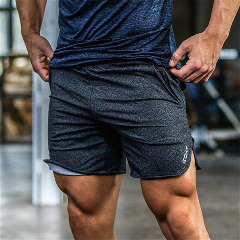 2017 summer new mens fitness shorts Fashion leisure gyms Bodybuilding