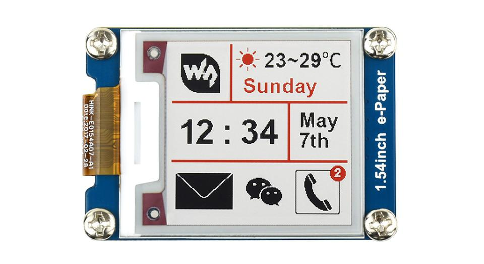200x200, 1.54inch E-Ink display module, three-color No backlight Ultra low