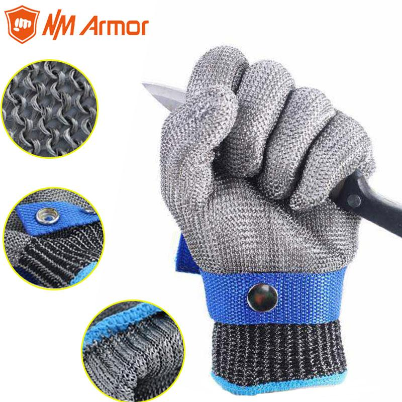 Workplace Safety Supplies Nmarmor Anti Vibration Mechanic Cut Resistant Safety Protection Work Gloves Guantes Anticorte