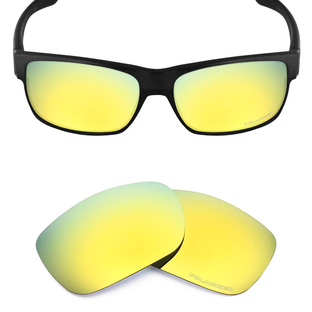 aa6fb6c2cb790 Mryok+ POLARIZED Resist SeaWater Replacement Lenses for Oakley TwoFace  Sunglasses 24K Gold