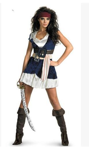 Halloween 2019 Costumes Girls.2019 Halloween Costume Women Adults Pirate Costumes Girls Knight Clothing Caribbean Pirates Us 36 00