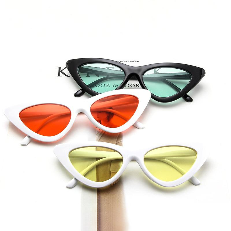 d2af95ee22 SHAUNA Popular Women Cat Eye Sunglasses Fashion Ladies Red Frame Tinted Clear  Lens - Pricearchive.org