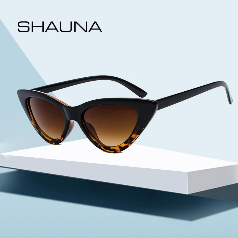 4a3dd9ae1c337 SHAUNA Popular Women Cat Eye Sunglasses Fashion Ladies Red Frame ...