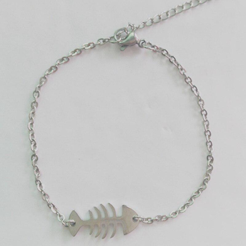 New Arrival Stainless Steel Bracelet Simple Design Cat Fish Charms Cute Bracelets Pricearchive Org