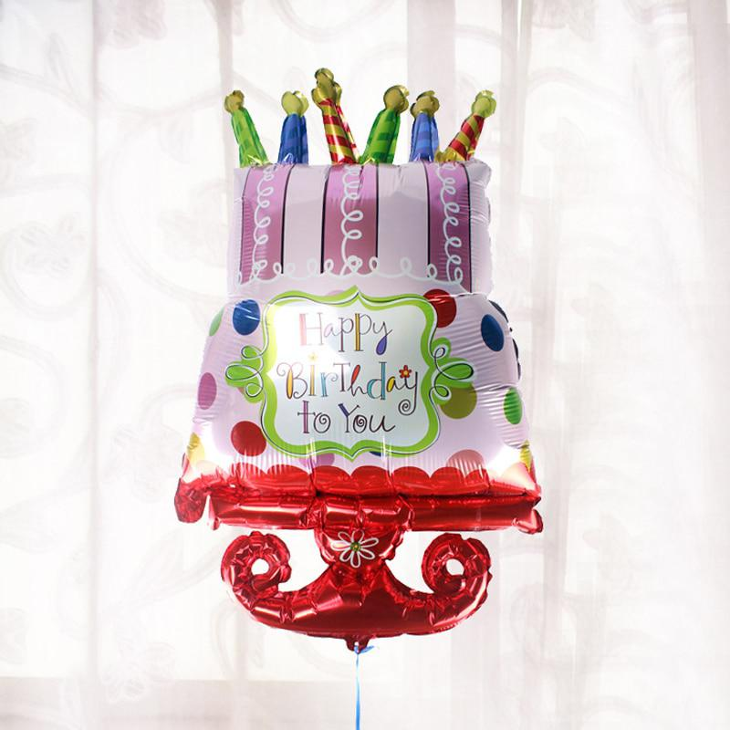 Superb 2 Kinds 100 50Cm Colorful Happy Birthday Cake Shape Foil Balloon Funny Birthday Cards Online Aboleapandamsfinfo