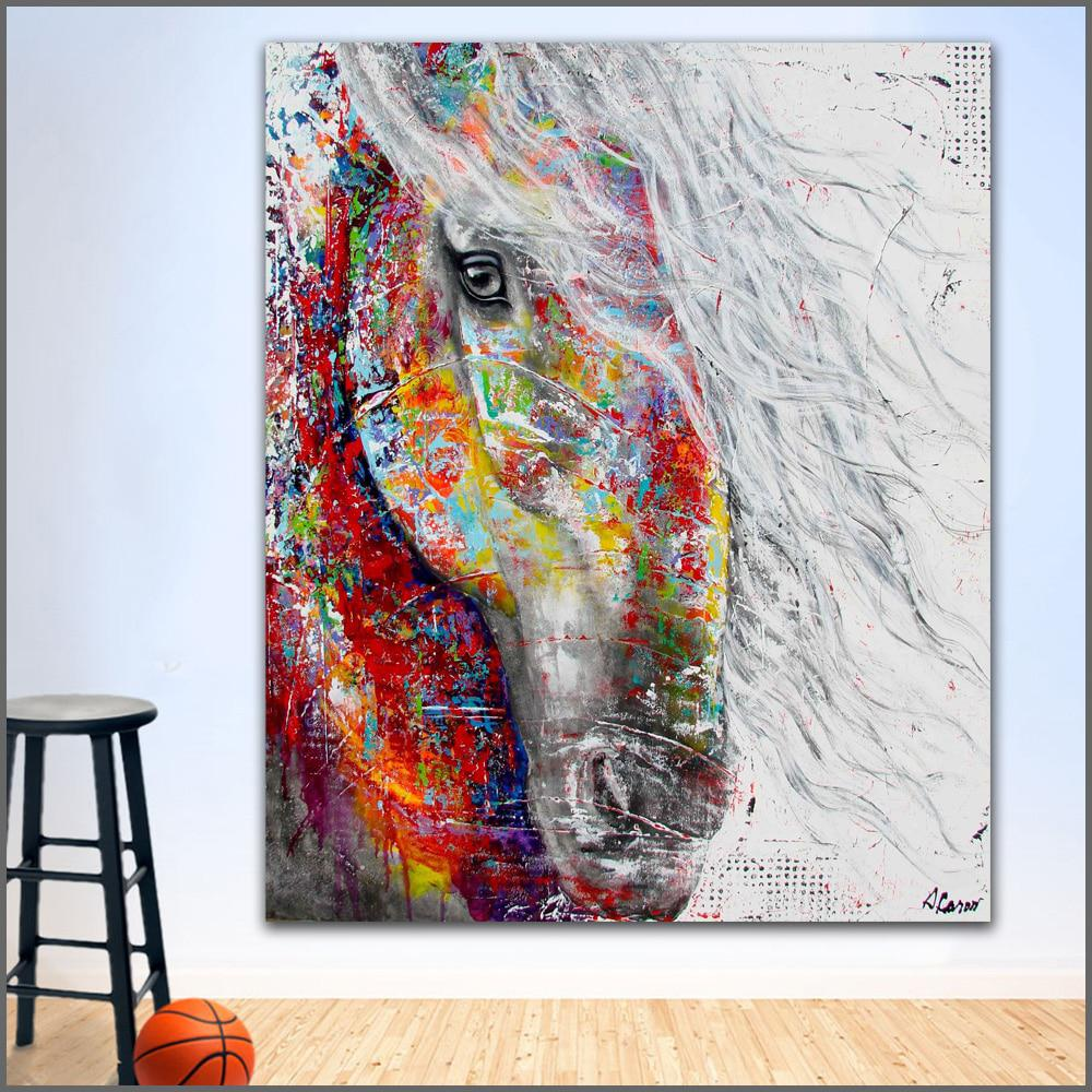 Wall Art Painting Modern Colorful Animal Oil Painting On Canvas Vivid Colors Us 9 34