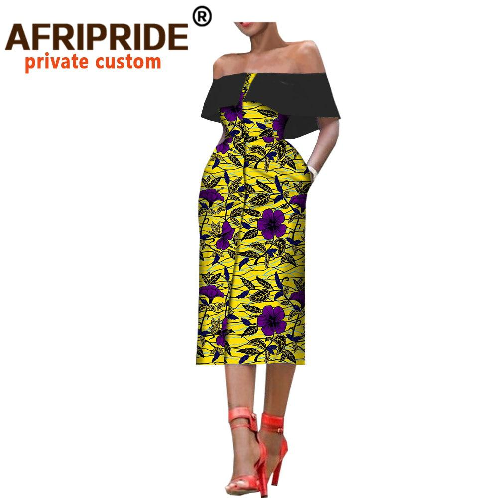 bd56b7fd1e5 2018 african style summer women dress AFRIPRIDE sleeveless mid-calf single  breasted strapless - Pricearchive.org