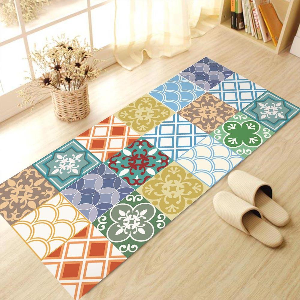 Funlife Moroccan Style Floor Stickers Wall Decal,Anti-Slip ...