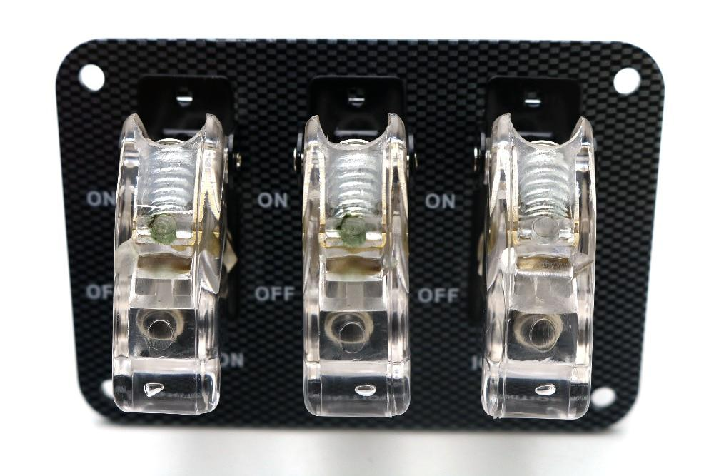 12v white LED Safety Cover Aircraft Toggle Switch Carbon Fiber Surface  Panel - US $20 24