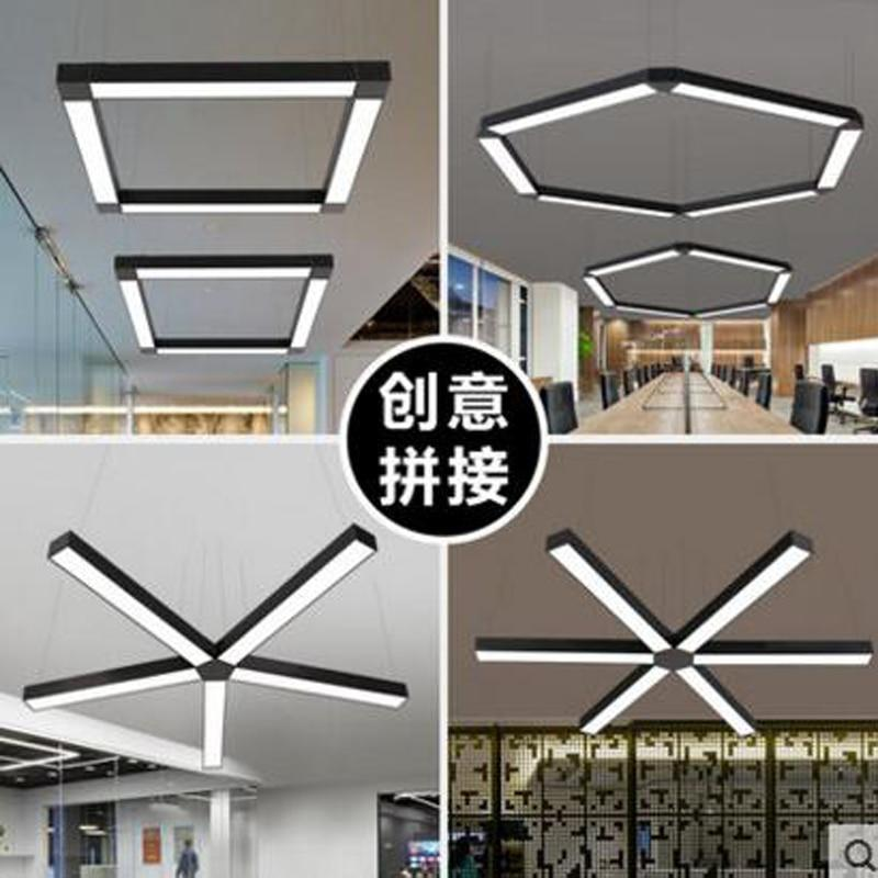 Led Strip Lights Office Creative Personality Sching Studio Gym Lighting Chandeliers Us 90 20