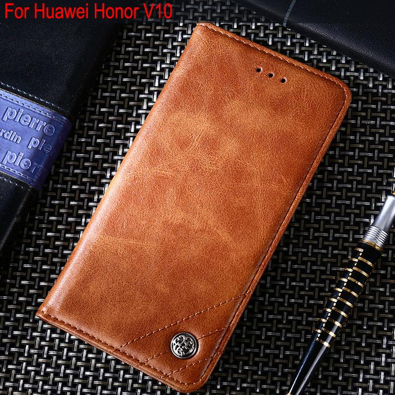 cheap for discount 13976 5f6b4 for huawei honor View 10 case Luxury Leather Flip cover Stand Card - US  $4.69
