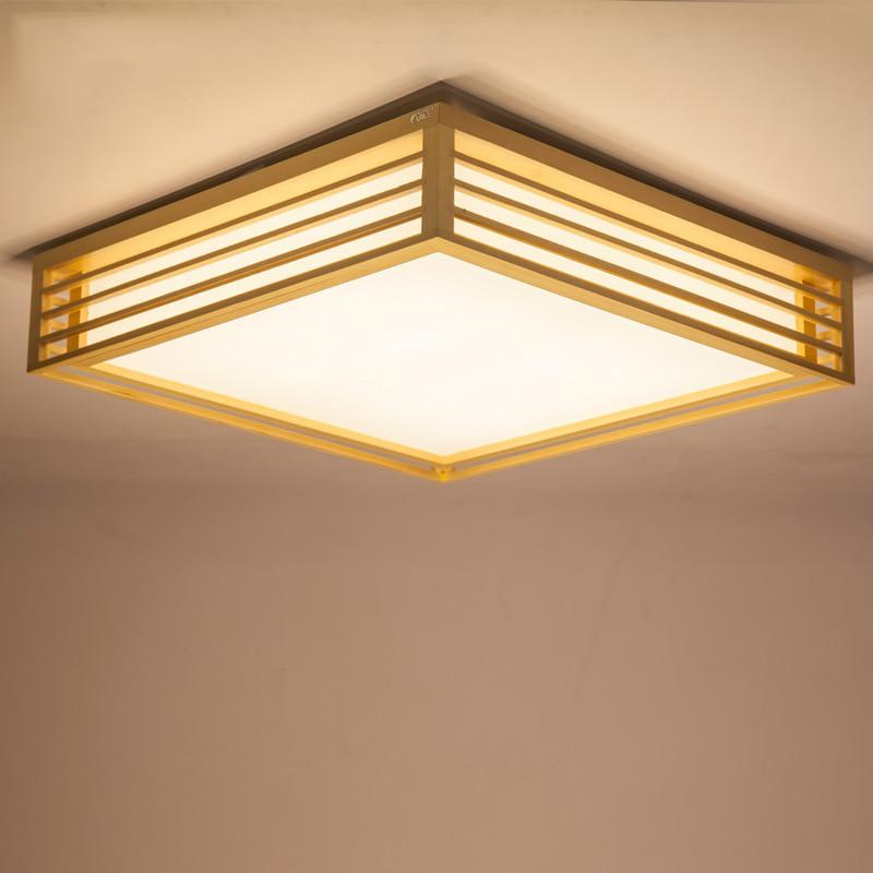 Japanese Style Delicate Crafts Wooden Frame Tatami Led Ceiling Lights Luminarias Para Us 71 50