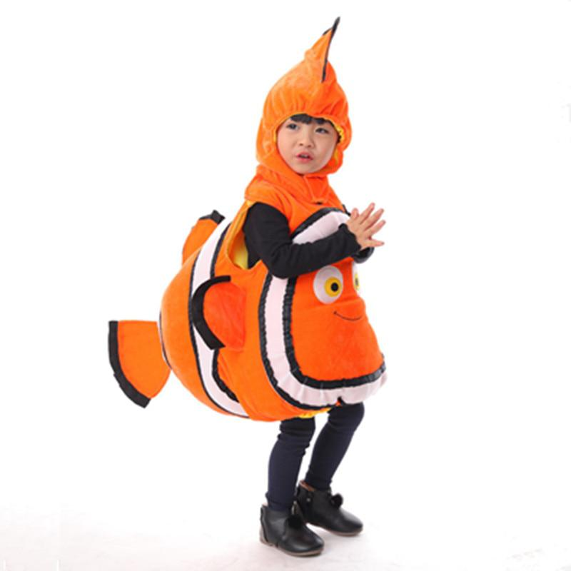 Clown Fish Costume For Children Ocean Fish Halloween Party Costume