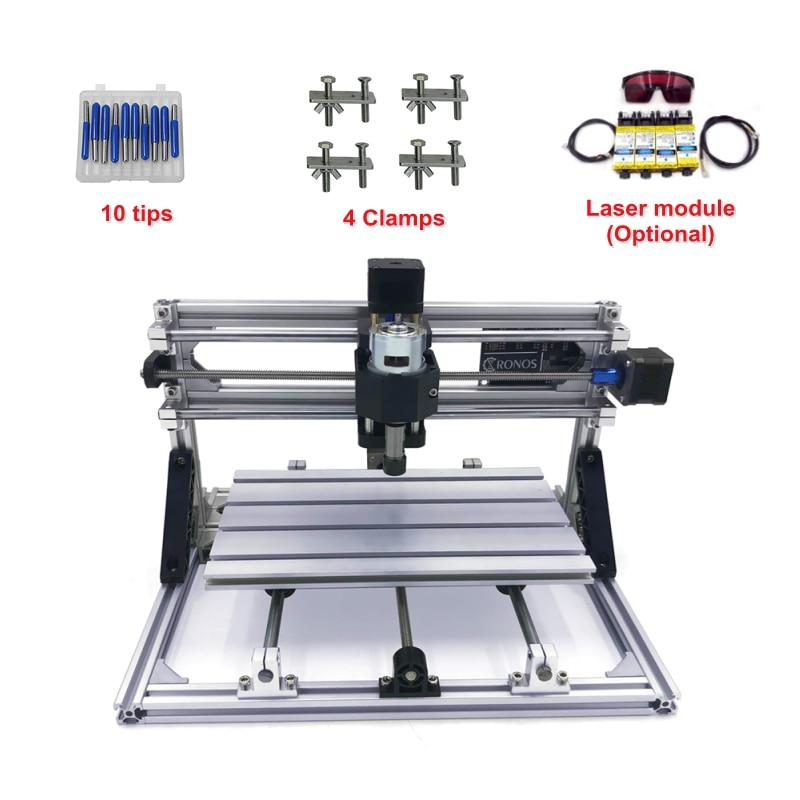 Mini cnc 1610 PRO Pcb Milling Machine diy hobby wood router with - US  $220 00