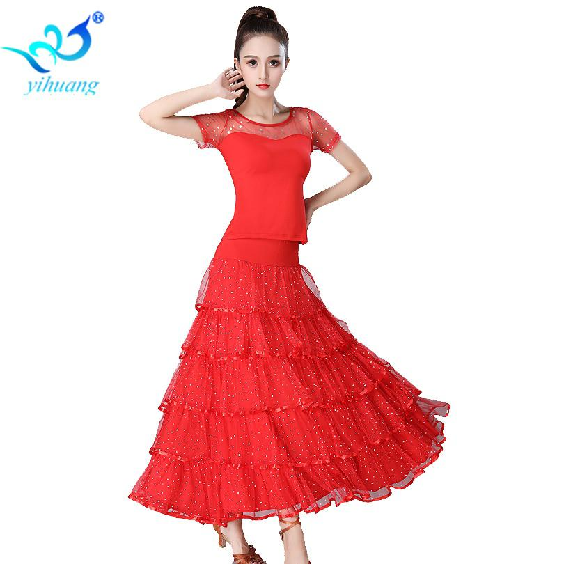 cc60170cf Elegant Ballroom Dance Competition Costume Set Women Modern Standard  Dancewear