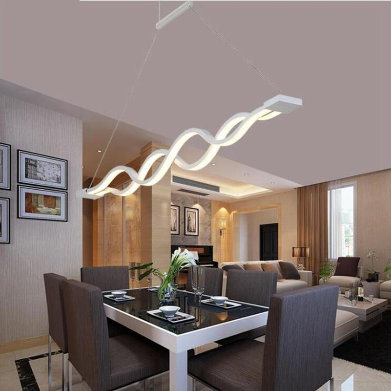 80w Modern Acrylic Wave Pendant Lights Acryl Long Lamps For Dinning Us 83 94