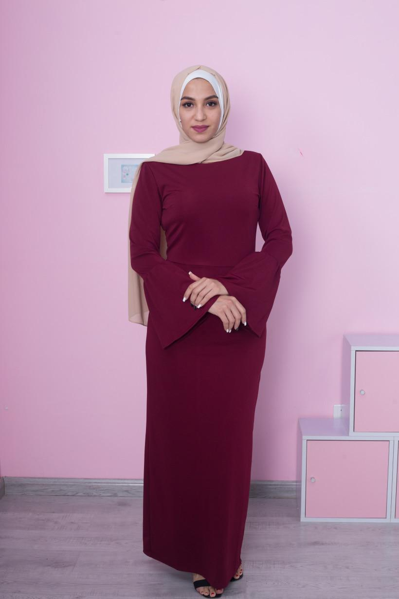 645287c247657 Muslim Abaya Women SkirtMaxi Dress Flare Sleeve Long Robe Gowns Kimono  Ramadan - US $21.67