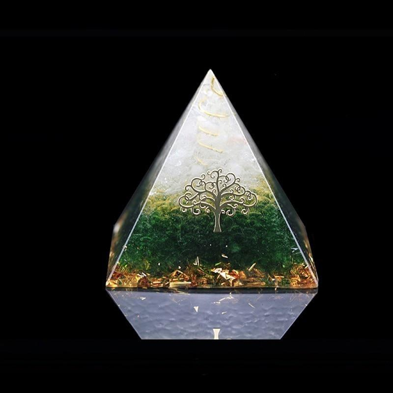 2019 New Orgonite Energy Pyramid Energy Converter Improve Fortune Green  Crystal Ornaments - US $7 99