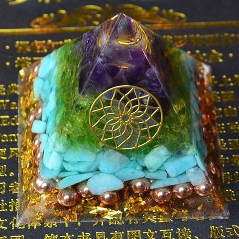 Reiki Healing Orgonite Pyramid Energy Converter Orgone Accumulator Stone  That Changes The - US $22 86