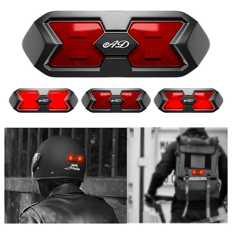 A Pair of Waterproof Motorcycle Helmet Reflector lamp Riding Signal EL lamp with Flashing LED Cool Reflector Cold Light Film Helmet Reflector Sticker